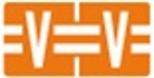 TAB Alphabetic Labels - 1278 Series (Rolls) V- Dk. Orange