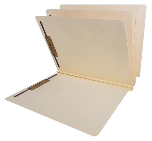 "Barkley End Tab Manila Folders with 2 Dividers - 14 PT. Manila - Letter Size  - 3"" Expansion"