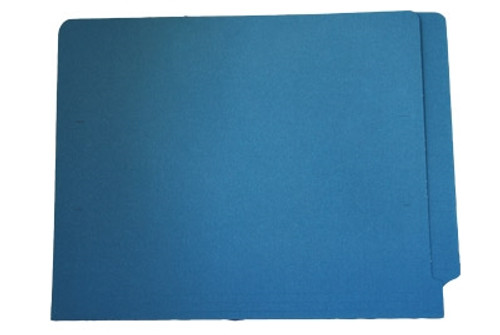 End Tab File Folder - Blue - Letter - 11 pt - Reinforced Full End Tab - 100/Box