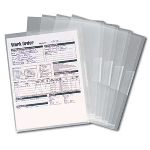 Smead Organized Up Poly Translucent Project File Jacket, Letter Size, Clear, 5 per Pack (85751) - 30 Packs