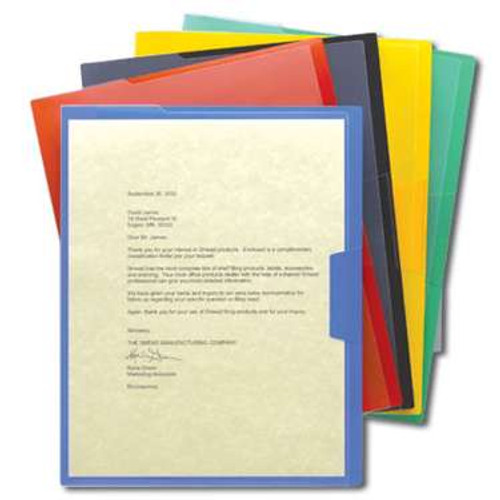 Smead Organized Up Poly Opaque Project Jacket, Letter Size, Assorted Colors, 5 per Pack (85740) - 30 Packs