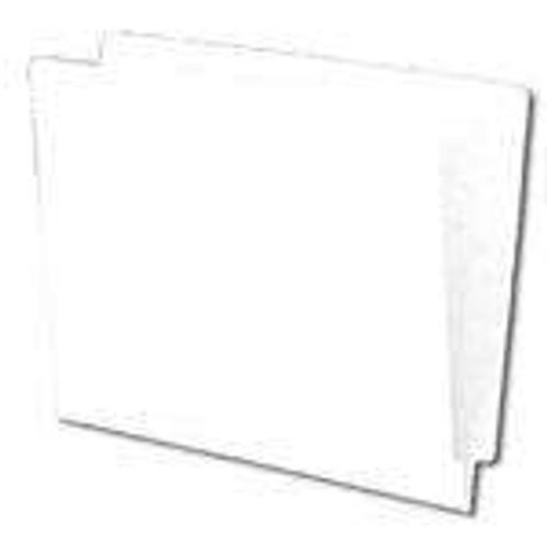 End Tab File Folder - White - Letter Size - 14 pt - Reinforced Tab - Full End Tab - Box of 50