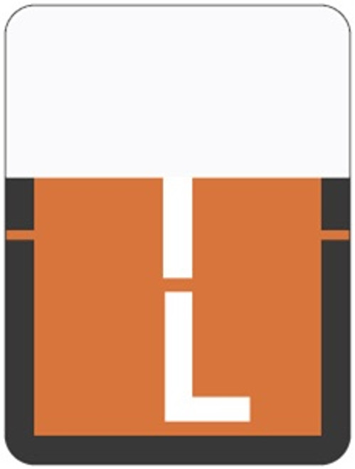 TAB Alphabetic Labels - 1307 Series (Rolls) L- Dk. Orange