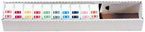 TAB Numeric Labels - 1277 Series (Rolls) - 0-9 Set with tray