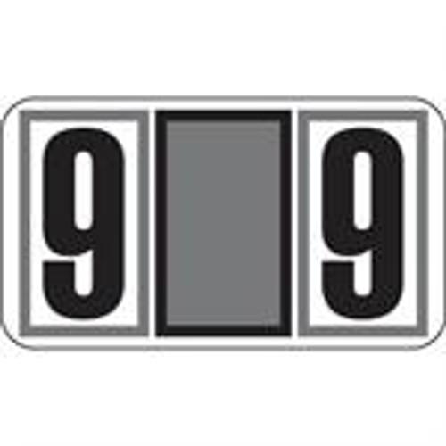 JETER Numeric Label - 7700 Series (Rolls) - 9 - Gray