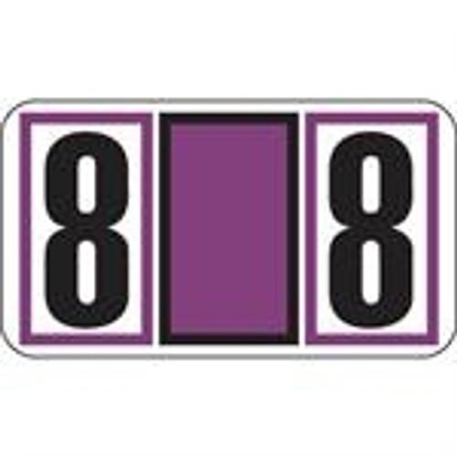 JETER Numeric Label - 7700 Series (Rolls) - 8 - Purple