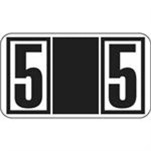 JETER Numeric Label - 7700 Series (Rolls) - 5 - Black