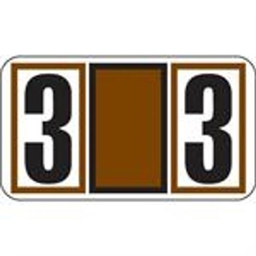 JETER Numeric Label - 7700 Series (Rolls) - 3 - Brown