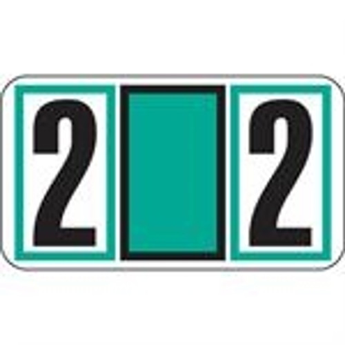 JETER Numeric Label - 7700 Series (Rolls) - 2 - Teal