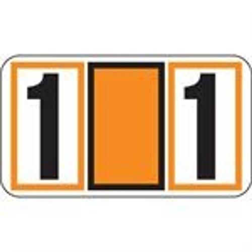 JETER Numeric Label - 7700 Series (Rolls) - 1 - Orange