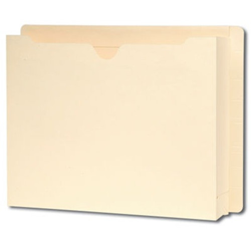 "Smead End Tab Expanding File Jacket, Reinforced Straight-Cut Tab, 2"" Accordion Expansion, Letter Size, Manila, 25 per Box (76910)"