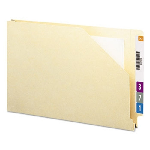 "Smead End Tab File Jacket, Shelf-Master Reinforced Straight-Cut Tab, 1-1/2"" Expansion, Legal Size, Manila, 50 per Box (76740)"