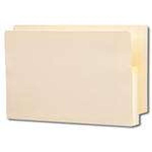 "Smead End Tab File folder, Reinforced Straight-Cut Tab, 1-3/4"" Accordion Expansion, Manila Gusset, Legal Size, Manila, 25 per Box (76114) - 4 Boxes"