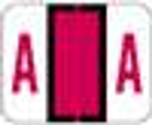 """TAB Alphabetic Labels - 1283 Series - Letter 'A' - Red -  1"""" H x 1 1/4"""" W - 500/Roll"""