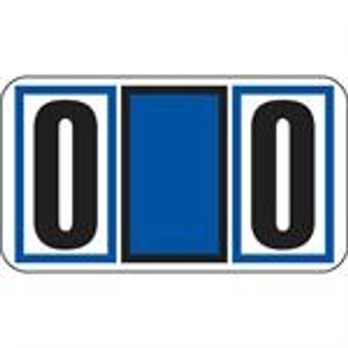 JETER Numeric Label - 7700 Series (Rolls) - 0 - Blue