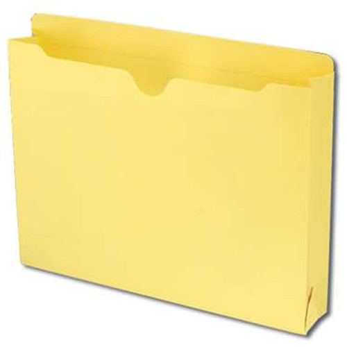 "Smead File Jacket, Reinforced Straight-Cut Tab, 2"" Expansion, Letter Size, Yellow, 50 per Box (75571) - 4 Boxes"