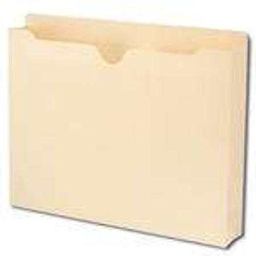 "Smead File Jacket, Reinforced Straight-Cut Tab, 2"" Accordion Expansion, Letter Size, Manila, 50 per Box (75560) - 4 Boxes"