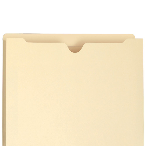 """Smead 75520  File Jacket, Reinforced Straight-Cut Tab, 1"""" Expansion, Letter Size 11-3/4"""" W X 9-1/2"""" H, 11 Pt. Manila, 200/Carton"""