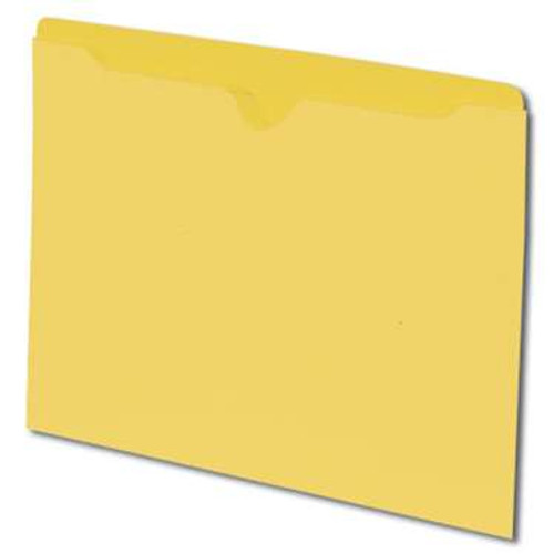 Smead File Jacket, Reinforced Straight-Cut Tab, Flat-No Expansion, Letter Size, Yellow, 100 per Box (75511) - 5 Boxes
