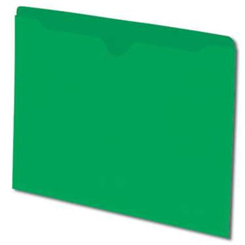 Smead File Jacket, Reinforced Straight-Cut Tab, Flat-No Expansion, Letter Size, Green, 100 per Box (75503) - 5 Boxes
