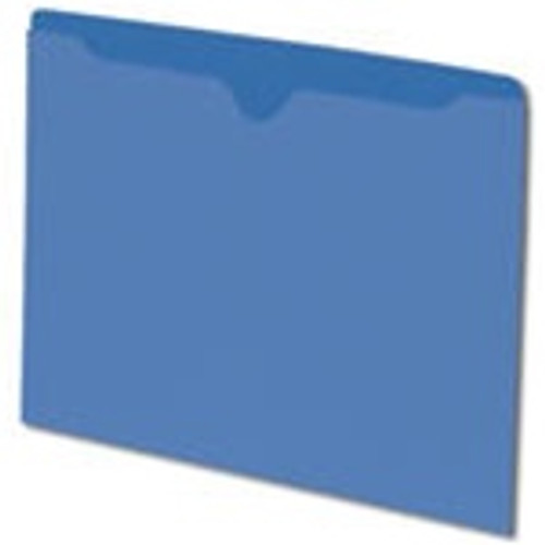 Smead File Jacket, Reinforced Straight-Cut Tab, Flat-No Expansion, Letter Size, Blue, 100 per Box (75502) - 5 Boxes
