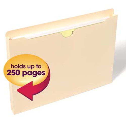 "Smead File Jacket, 1"" Expansion, Letter Size, Manila, (75439) - Carton of 200"