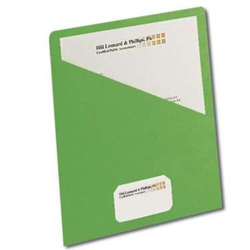 Smead Organized Up Slash Jacket , Letter Size, Green, Carton of 500 jackets (75432)