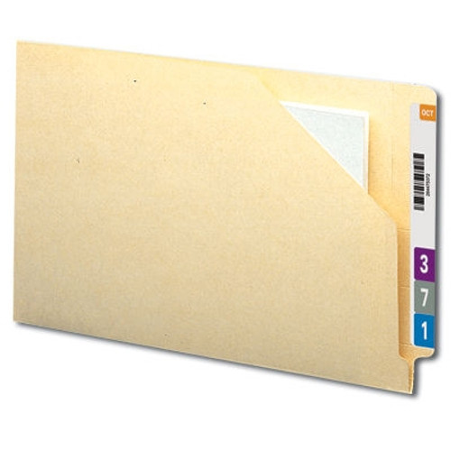 Smead End Tab File Jacket, Shelf-Master Reinforced Straight-Cut Tab, Flat-No Expansion, Legal Size, Manila, 100 per Box (76700)
