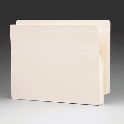 "Smead 75114  End Tab File folder, Reinforced Straight-Cut Tab, 1-3/4"" Accordion Expansion, Letter Size, Manila,  100/Carton"