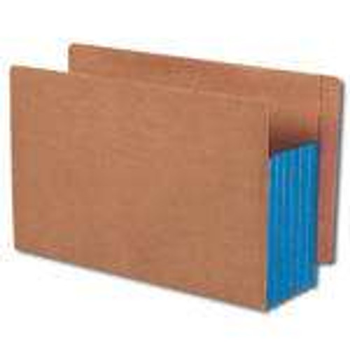 """Smead End Tab folder, Reinforced Straight-Cut Tab, 5-1/4"""" Accordion Expansion, Extra Wide Legal Size, Redrope with Blue Gusset, 10 per Box (74689)"""