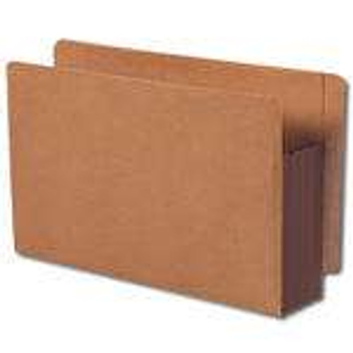 Smead End Tab Pocket, Reinforced Straight-Cut Tab, Extra Wide Legal Size, Redrope with Dark Brown Gusset (74681)
