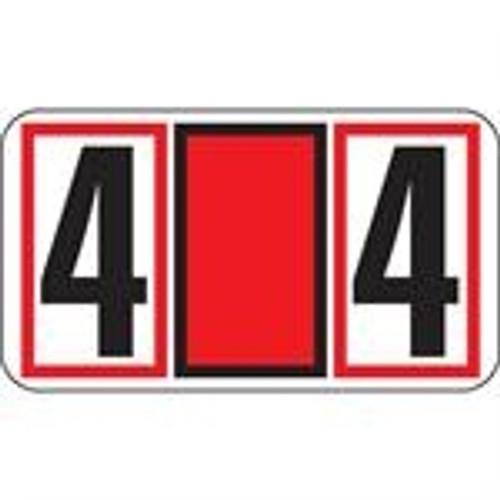 JETER Numeric Label - 7700 Series (Rolls) - 4 - Red