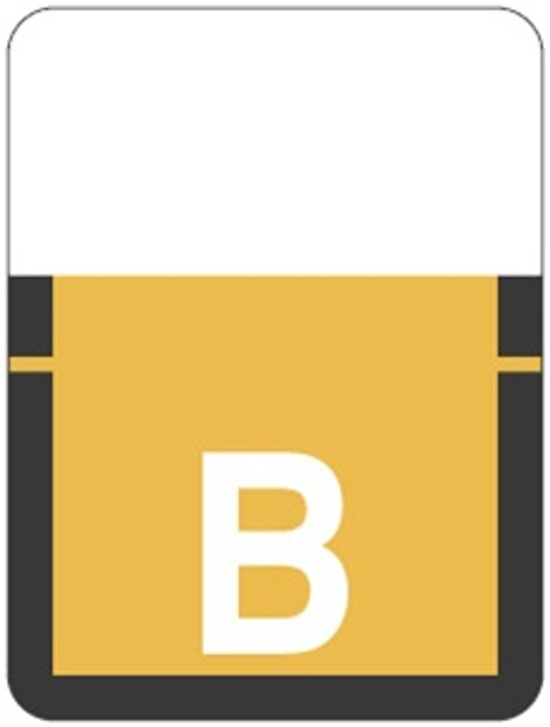 TAB Alphabetic Labels - 1307 Series (500 per Roll) B- Lt. Orange