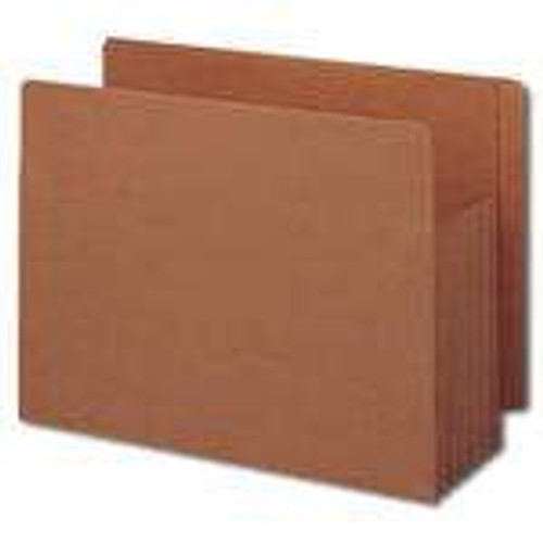 Smead End Tab TUFF File Pocket, Reinforced Straight-Cut Tab, Tyvek Gusset, Extra Wide, Redrope (73790) - Total of 5