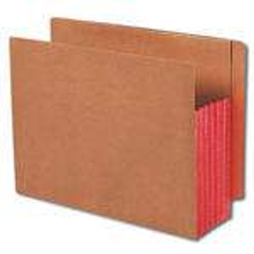 """Smead End Tab folder, Reinforced Straight-Cut Tab, 5-1/4"""" Accordion Expansion, Extra Wide Letter Size, Redrope with Red Gusset, 10 per Box (73696)"""