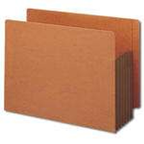 Smead End Tab Pocket, Reinforced Straight-Cut Tab, Extra Wide, Redrope with Dark Brown Gusset (73691)