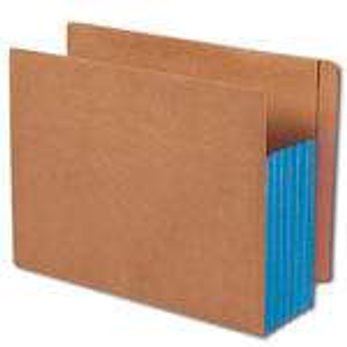 """Smead End Tab folder, Reinforced Straight-Cut Tab, 5-1/4"""" Accordion Expansion, Extra Wide Letter Size, Redrope with Blue Gusset, 10 per Box (73689)"""