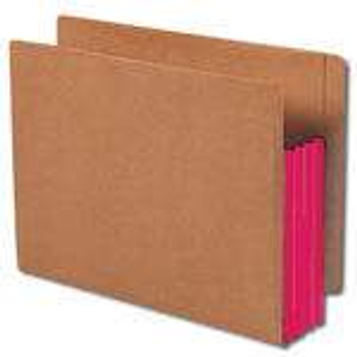 """Smead End Tab folder, Reinforced Straight-Cut Tab, 3-1/2"""" Accordion Expansion, Extra Wide Letter Size, Redrope with Red Gusset, 10 per Box (73686)"""