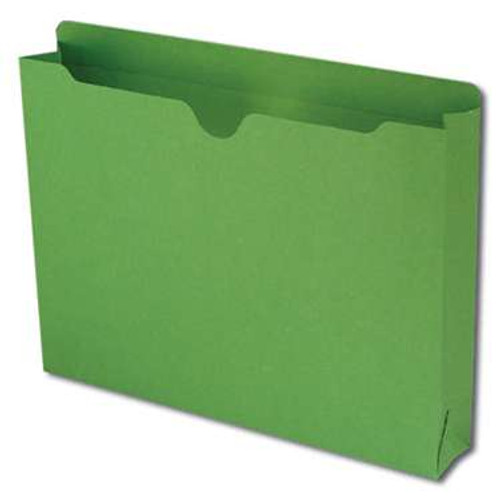"""Smead File Jacket, Reinforced Straight-Cut Tab, 2"""" Expansion, Letter Size, Green, 50 per Box (75563) - 4 Boxes"""