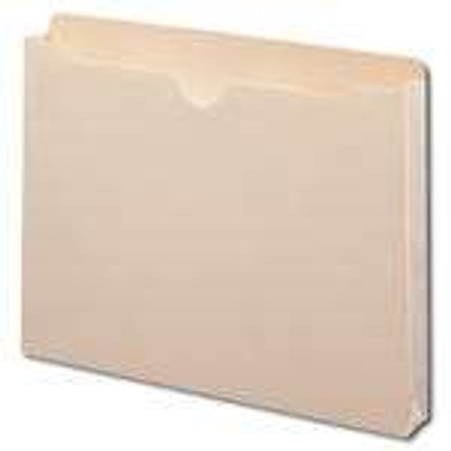 "Smead File Jacket, Reinforced Straight-Cut Tab, 1-1/2"" Accordion Expansion, Letter Size, Manila, 50 per Box (75540) - 4 Boxes"