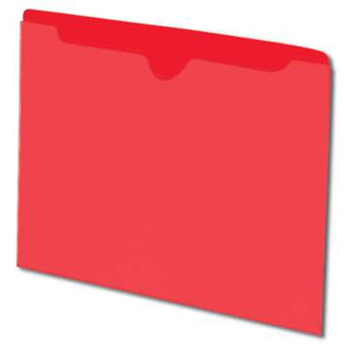 Smead File Jacket, Reinforced Straight-Cut Tab, Flat-No Expansion, Letter Size, Red, 100 per Box (75509) - 5 Boxes