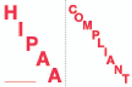 """HIPAA Compliant"" Label - White/Red - 1-1/2"" x 1"" - 250/Box"