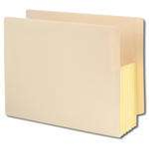 """Smead End Tab File folder, Reinforced Straight-Cut Tab, 5-1/4"""" Accordion Expansion, Tyvek-Lined Gusset, Letter Size, Manila, 10 per Box (75174) - 4 Boxes"""