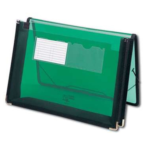 """Smead Poly Wallet, 2-1/4"""" Expansion, Flap and Cord Closure, Letter Size, Green (71951) - Total of 12"""