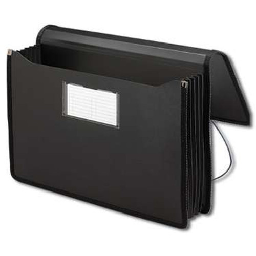 "Smead Poly Premium Wallet, 5-1/4"" Expansion, Legal Size, Black (71510) - Total of 12"
