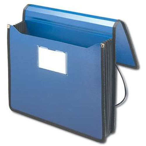 """Smead Poly Premium Wallet, 5-1/4"""" Expansion, Letter Size, Navy Blue (71503) - Total of 12"""