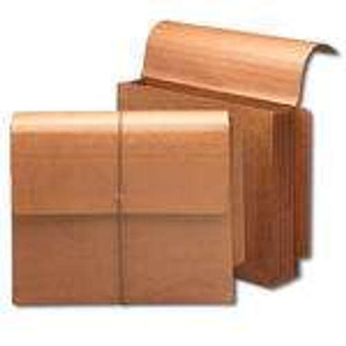 """Smead End Tab Wallet, 5-1/4"""" Expansion, Flap and Cord Closure, Letter Size, Redrope, 10 per Box (71144) - 5 Boxes"""