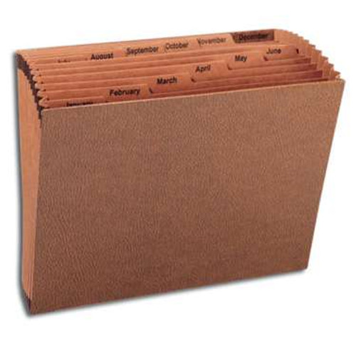 Smead TUFF Expanding File, Monthly (Jan.-Dec.) 12 Pockets, Letter Size, Redrope-Printed Stock (70488) - 5/Carton