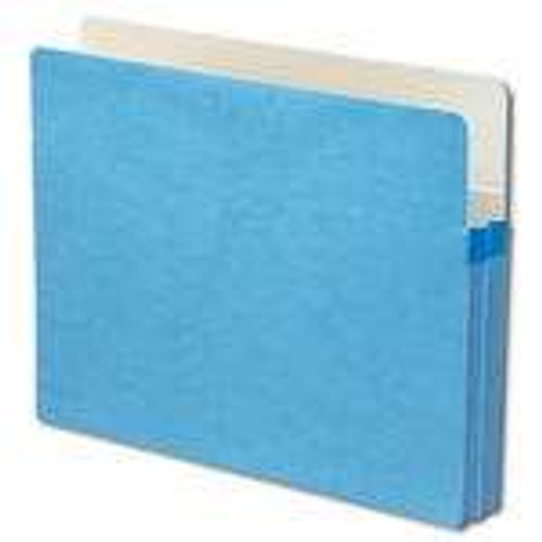 "Smead File Pocket, Straight-Cut Tab, 1-3/4"" Expansion, Letter Size, Blue, 25 per Box (73215)"