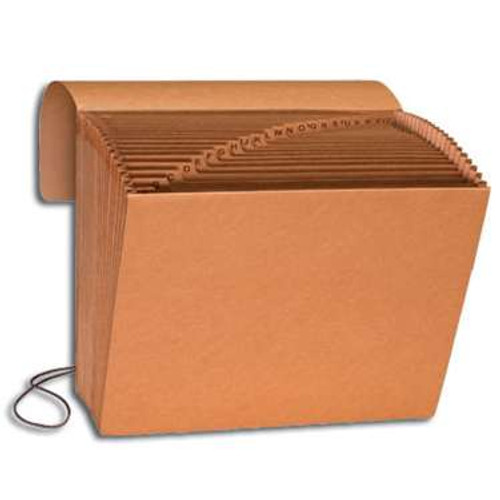 Smead Expanding File, Alphabetic (A-Z), 21 Pockets, Flap and Cord Closure, Letter Size, Kraft (70121) - Total of 5